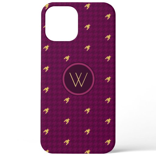 Pink with Gold Accent Houndstooth Case-Mate Case