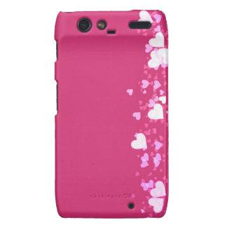 Pink with hearts Case-Mate Case Motorola Droid RAZR Case