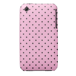 Pink with little black stars. iPhone 3 covers