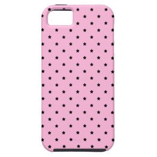 Pink with little black stars. iPhone SE/5/5s case