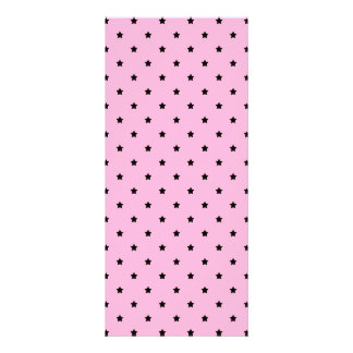 Pink with little black stars. rack card