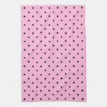 Pink with little black stars. towel