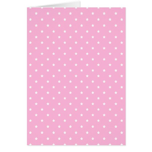 Pink with little white stars. Custom Stationery Note Card