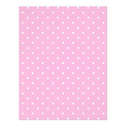 Pink with little white stars. Custom Letterhead