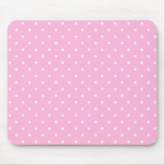 Pink with little white stars. Custom Mouse Pad
