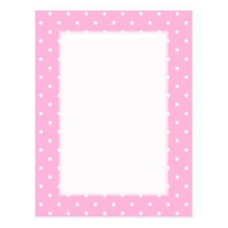 Pink with little white stars. Custom Postcard