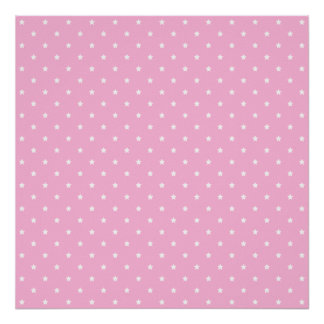 Pink with little white stars. Custom Poster