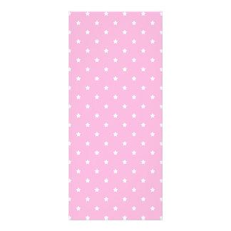 Pink with little white stars. Custom Rack Card