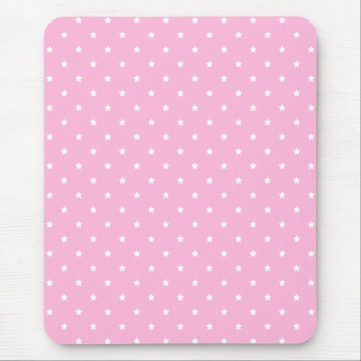 Pink with little white stars. mouse pad