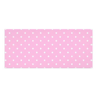 Pink with little white stars. rack card template