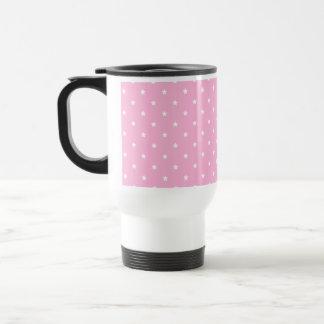 Pink with little white stars. travel mug