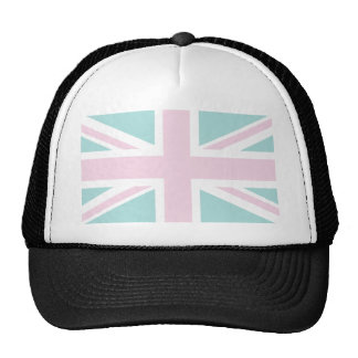 Pink with pale green Union Jack British(UK) Flag Hat