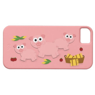 Pink with Pigs iPhone 5 Case