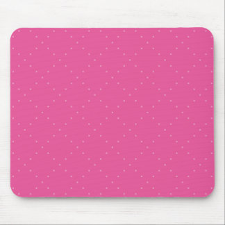 Pink with Pink Polka Dots in a Diamond Grid Mouse Pad
