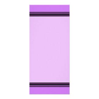 pink with purple black lines rack card