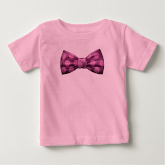 Pink with Purple Bow Tie w/ Pink Polka Dots Baby T-Shirt
