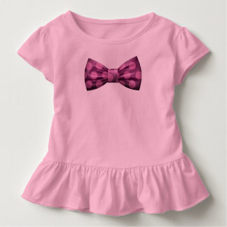 Pink with Purple Bow Tie w/ Pink Polka Dots Toddler T-shirt