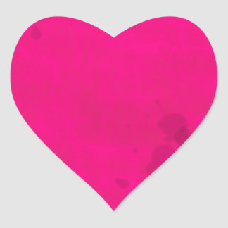 Pink with Water Stains Heart Sticker
