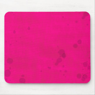Pink with Water Stains Mouse Pad