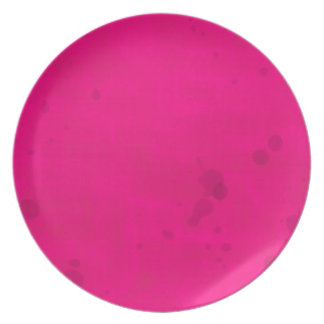 Pink with Water Stains Dinner Plate
