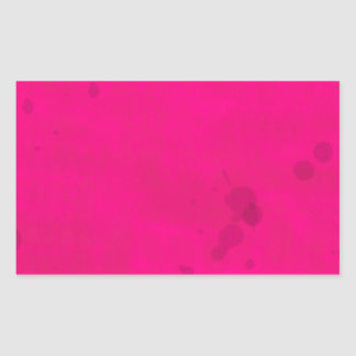Pink with Water Stains Rectangular Sticker
