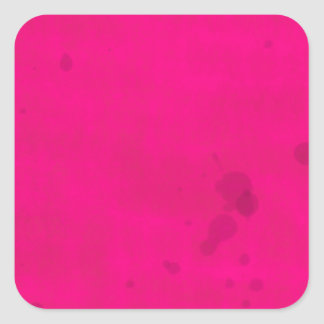 Pink with Water Stains Square Sticker