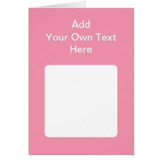 Pink with white area and text card