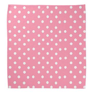 Pink with White Dots Bandana