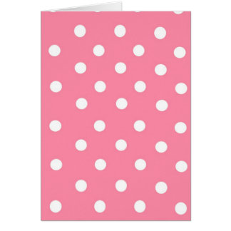 Pink with White Dots Card
