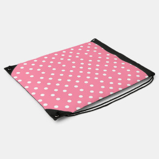 Pink with White Dots Cinch Bag