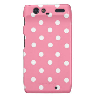 Pink with White Dots Droid RAZR Cover