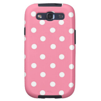 Pink with White Dots Galaxy SIII Case
