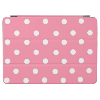 Pink with White Dots iPad Air Cover