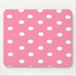 Pink with White Dots Mousepad