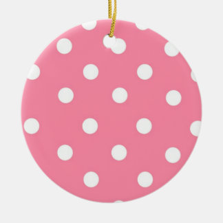 Pink with White Dots Ornament