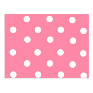 Pink with White Dots Postcard