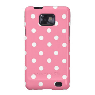 Pink with White Dots Samsung Galaxy SII Covers