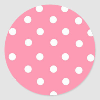 Pink with White Dots Stickers
