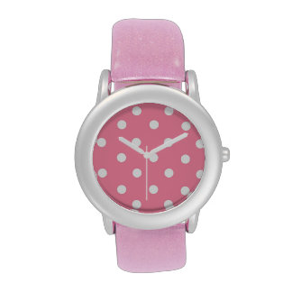 Pink with White dots Wristwatch