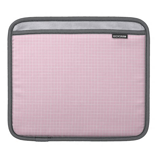 Pink with White Lines Grid Sleeve For iPads
