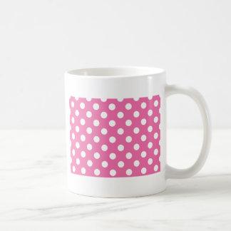 Pink with White Polka Dots Coffee Mug