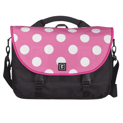 Pink with White Polka Dots Commuter Bag