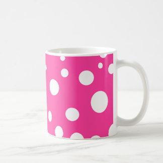 Pink with White Polka Dots Girly Fun Coffee Mug