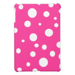 Pink with White Polka Dots Girly Fun iPad Mini Cases