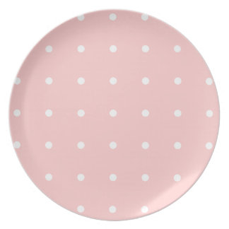 Pink With White Polka Dots Plate