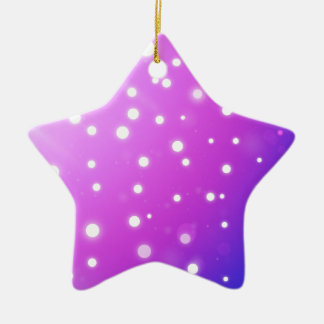 pink with white polkadots ceramic star decoration