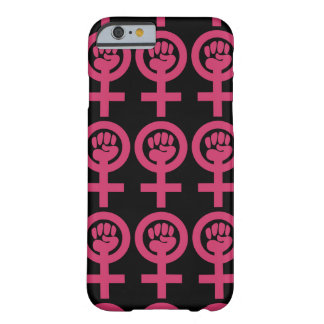 """Pink """"Woman Power"""" Emblem Barely There iPhone 6 Case"""