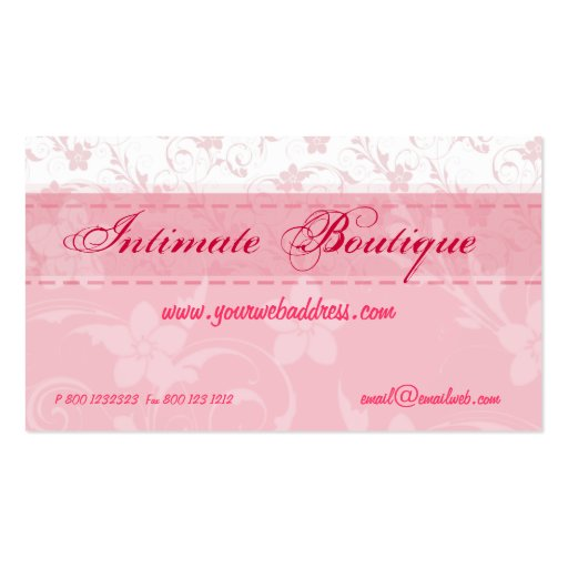Pink women clothing business card templates zazzle for Business cards for women