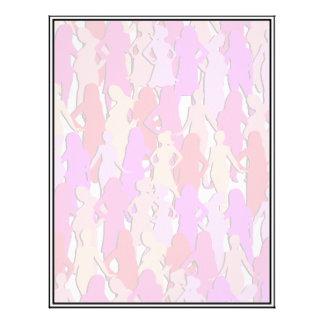 Pink Women Silhouette Letterhead