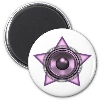 Pink Womens Sub Bass Woofer Star Magnet